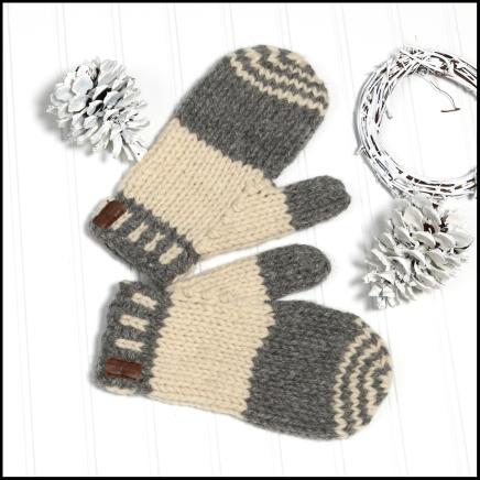 Prairie chunky mitts (light - natural series)