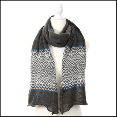 reflecting mountain tencel scarf oversized - indigo cutch white_7152